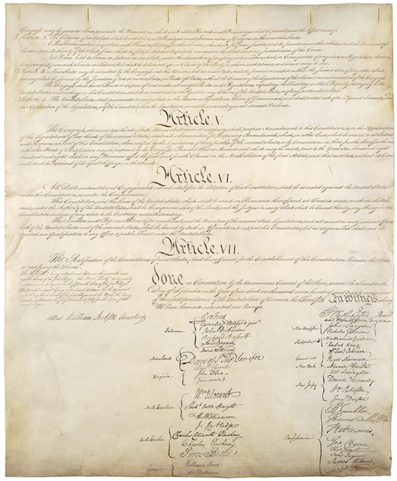 Us constitution date in Australia